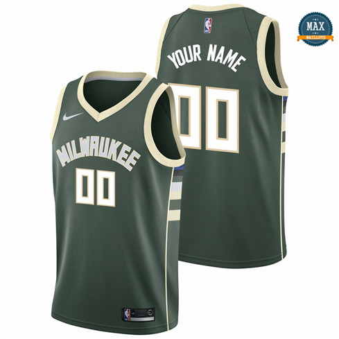 Max Maillots Custom, Milwaukee Bucks - Icon Edition
