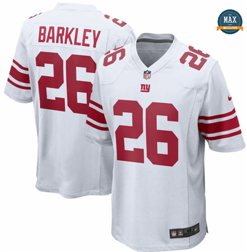 Max Maillots Saquon Barkley, New York Giants - White