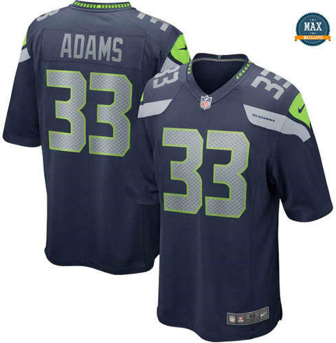 Max Maillots Jamal Adams, Seattle Seahawks - Navy