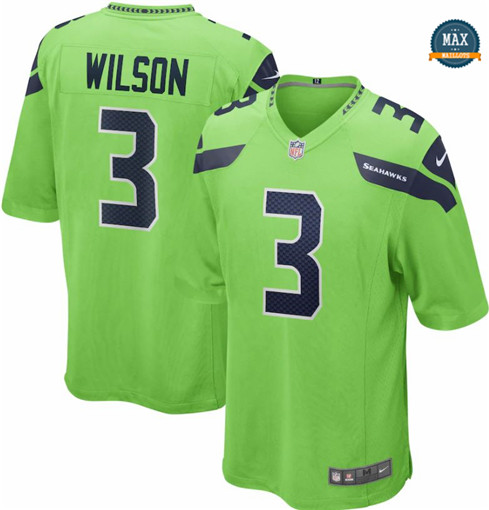 Max Maillots Russell Wilson, Seattle Seahawks - Green