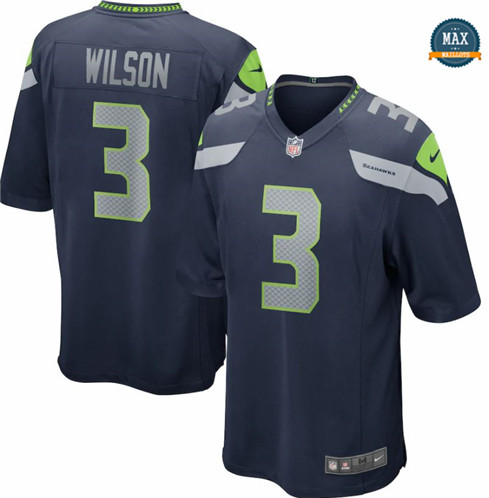Max Maillots Russell Wilson, Seattle Seahawks - Navy