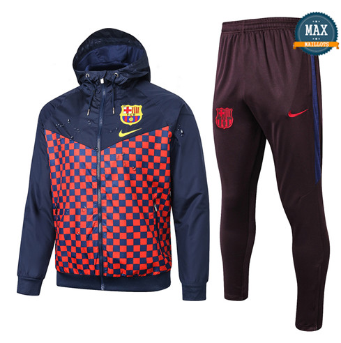 Max Coupe vent Barcelone 2019/20 Bleu Marine/Plaid Rouge