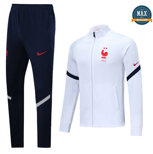 Max Veste Survetement France 2020/21 Blanc