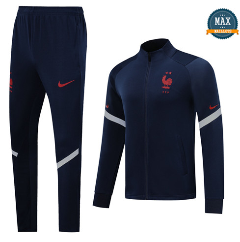 Max Veste Survetement France 2020/21 Bleu Marine