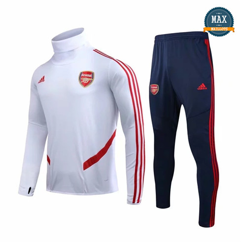 Max Survetement Arsenal 2019/20 Blanc/Rouge
