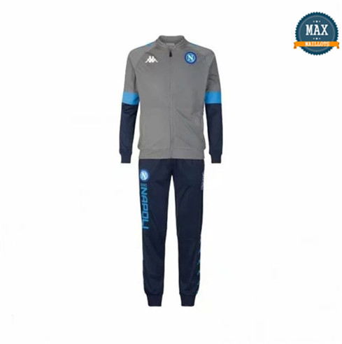 Max Veste Survetement Naples 2019/20 Gris/Bleu Marine