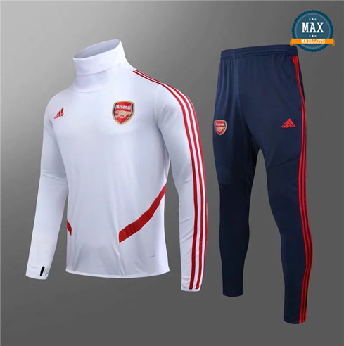 Max Survetement Enfant Arsenal 2019/20 Blanc/Rouge