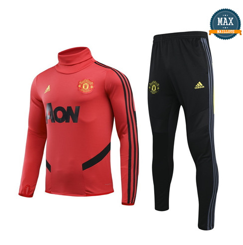 Max Survetement Enfant Manchester United 2019/20 Rouge/Noir
