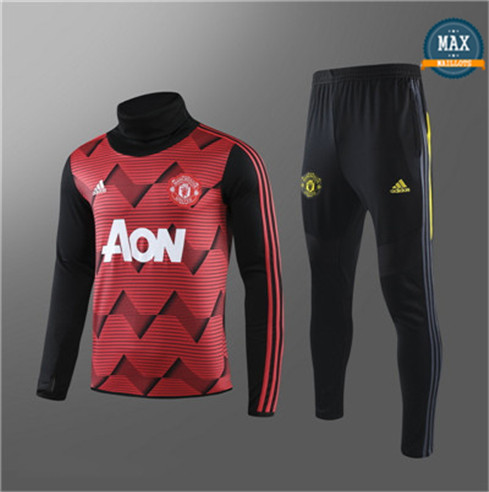 Max Survetement Enfant Manchester United 2019/20 Rouge/Noir Rayon