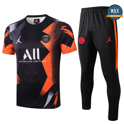 Max Maillot PSG + Pantalon 2019/20 Training Noir/Orange
