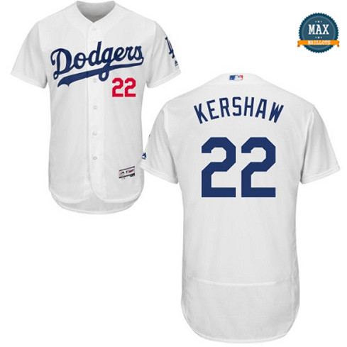 Max Clayton Kershaw, Los Angeles Dodgers - Blanc