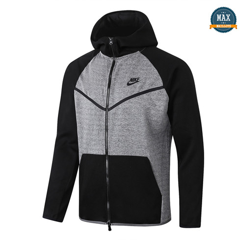Max Veste France 2020/21 Gris/Noir manche Tech Fleece