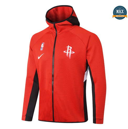 Max Maillots Chaqueta con capucha Hoston Rockets - Rouge fiable