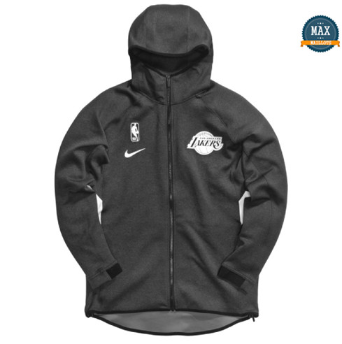 Max Maillots Chaqueta con capucha Los Angeles Lakers - Noir fiable