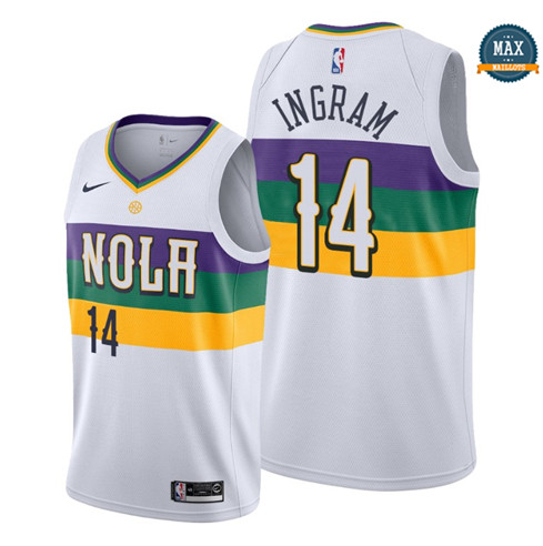 Max Maillots Brandon Ingram, New Orleans Pelicans 2019/20 - City Edition fiable