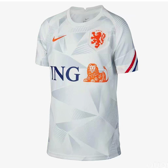 Max Maillots Pays-Bas Exterieur Blanc 2020