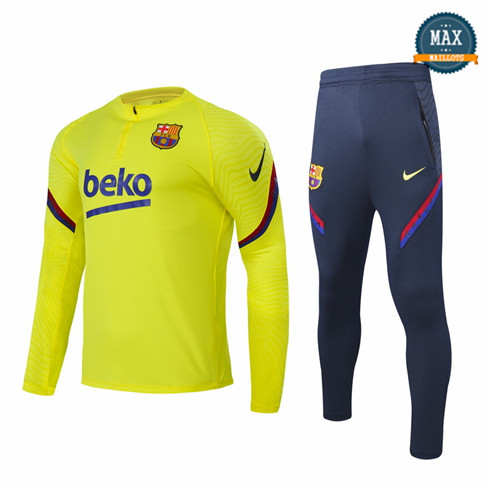 Max Survetement Barcelone 2020 Jaune