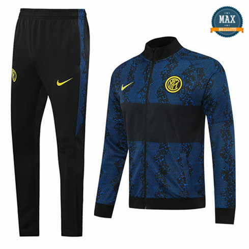 Max Veste Survetement Inter Milan 2020 Noir/Bleu