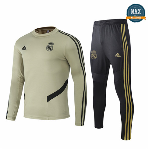 Max Survetement Real Madrid 2020 Jaune Terre Col Rond