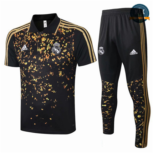 Max Maillots polo + Pantalon Real Madrid 2020 Training Noir/Jaune