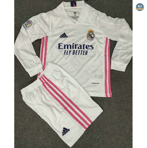 Max Maillots Real Madrid Enfant Domicile Manche Longue 2020
