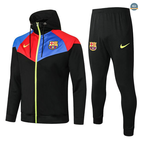 MaxVeste Survetement à Capuche Barcelone 2020 Noir