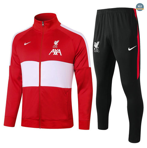 MaxVeste Survetement Enfant Liverpool 2020 Rouge