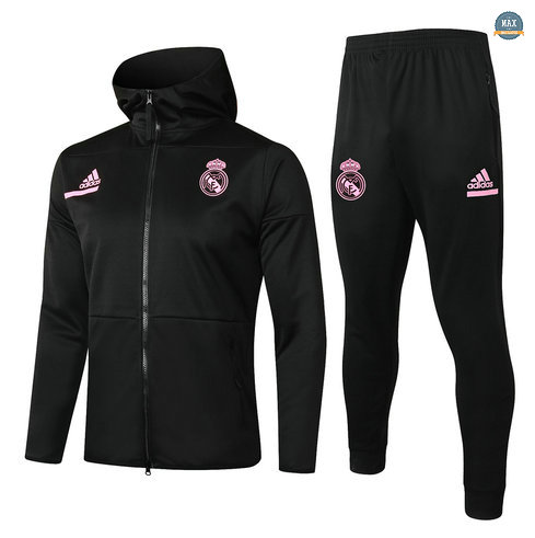 MaxVeste Survetement Enfant à Capuche Real Madrid 2020 Noir
