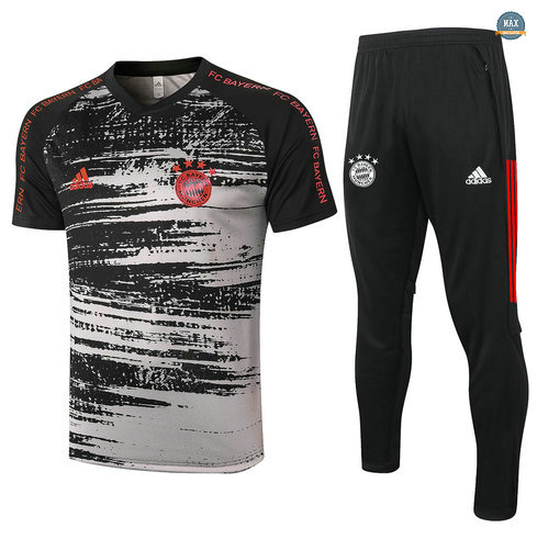 MaxBayern Munich + Pantalon 2020/21 Training Noir/Gris