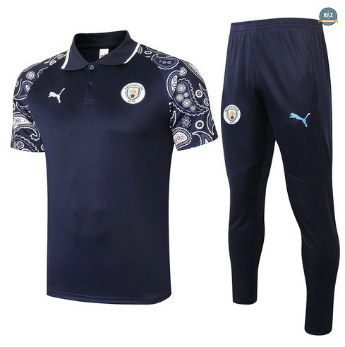 MaxManchester City POLO + Pantalon 2020/21 Training Bleu Marine