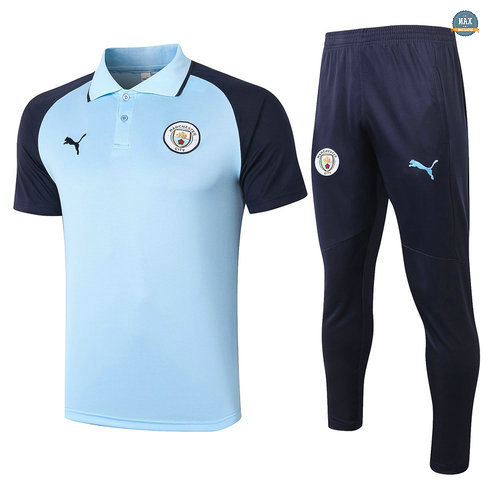 MaxManchester City POLO + Pantalon 2020/21 Training Bleu clair/Bleu Marine