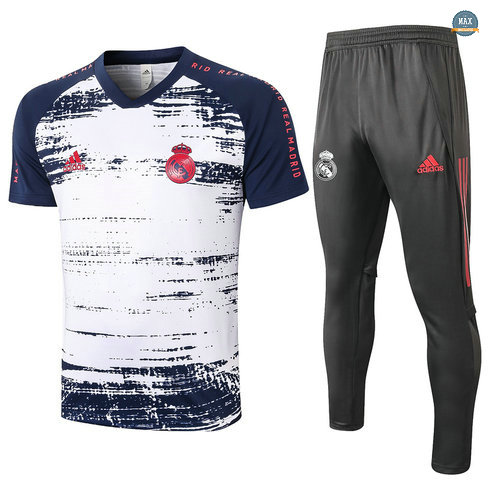 MaxReal Madrid + Pantalon 2020/21 Training Blanc/Bleu Marine