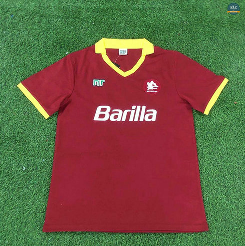 Max Maillot Retro 1989-90 AS Rome Domicile