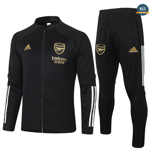 Max Veste Survetement Arsenal 2020/21 Noir