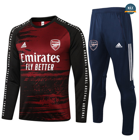 Max Survetement Arsenal 2020/21 Noir/Rouge