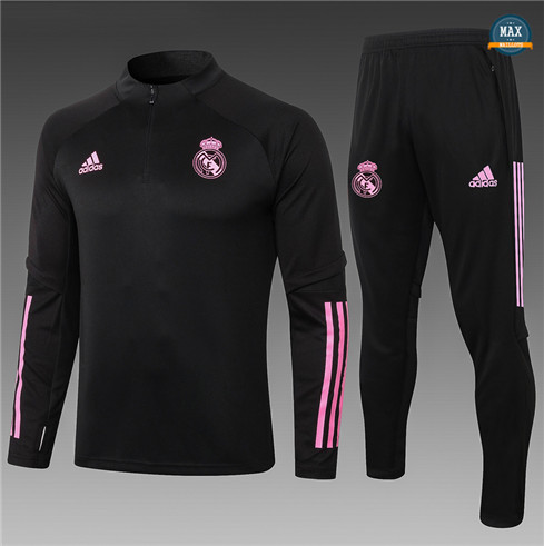 Max Survetement Enfant Real Madrid 2020/21 Noir/Rouge