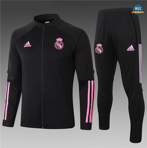 Max Veste Survetement Enfant Real Madrid 2020/21 Noir/Rouge