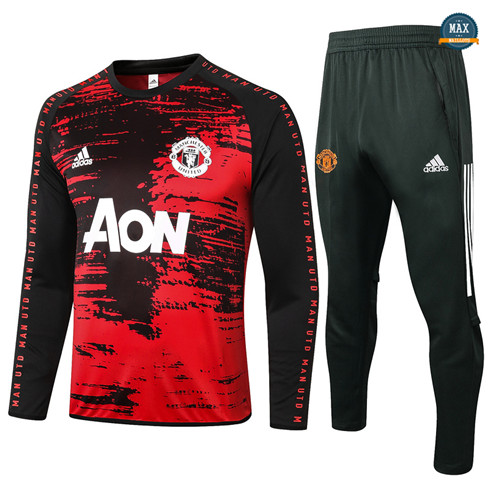 Max Survetement Manchester United 2020/21 Noir/Rouge