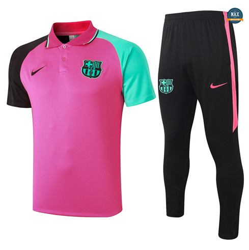 Max Maillot Barcelone Polo + Pantalon 2020/21 Training Rose