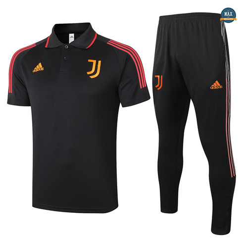 Max Maillot Juventus Polo + Pantalon 2020/21 Training Noir/Rouge