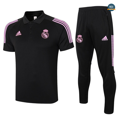 Max Maillots Real Madrid Polo + Pantalon 2020/21 Training Noir