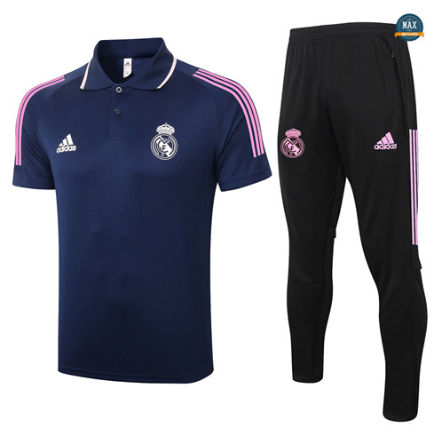 Max Maillot Real Madrid Polo + Pantalon 2020/21 Training Bleu Marine