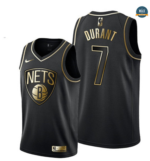 Max Maillot Kevin Durant, Brooklyn Nets - Noir/Or