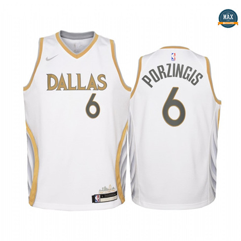 Max Maillots Kristaps Porzingis, Mavericks Dallas 2020/21 - City Edition