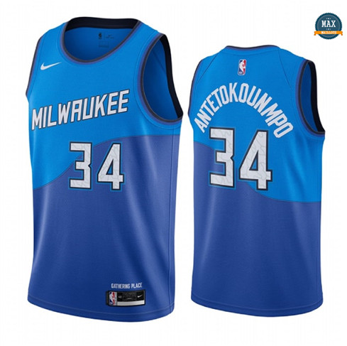 Max Maillots Giannis Antetokounmpo, Milwaukee Bucks 2020/21 - City Edition
