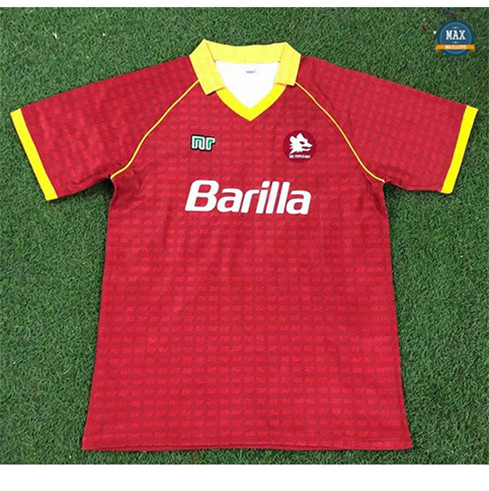 Max Maillot Retro 1990-91 AS Roma Domicile