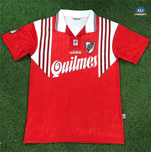 Max Maillots Retro 1995-96 River Plate Exterieur Rouge