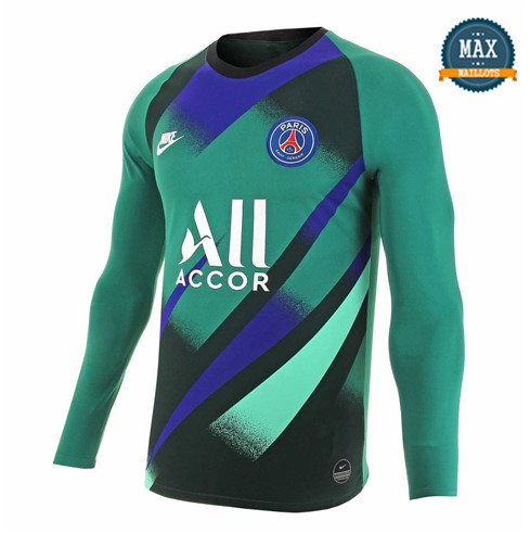 Maillot Paris Saint Germain Goalkeeper Domicile 2019/20 Vert