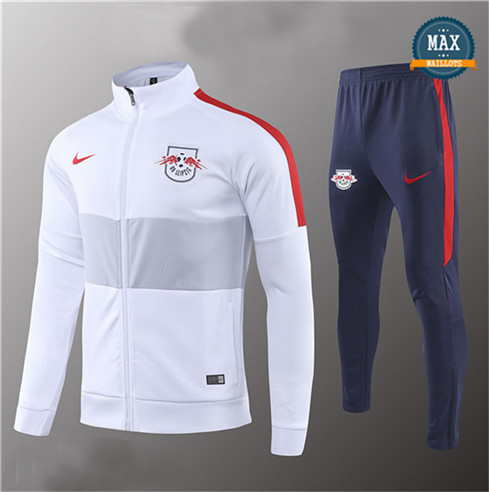 Veste Survetement RB Leipzig 2019/20 Blanc/Bleu Marine