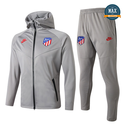 Survetement à Capuche Atletico Madrid 2019/20 Gris